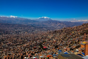 0S8A1465 El Alto La Paz Background Mt. Illimani Bolivia
