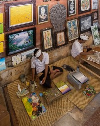 8R2A9842 Handicraft Painting Ubud South Bali Indonesia